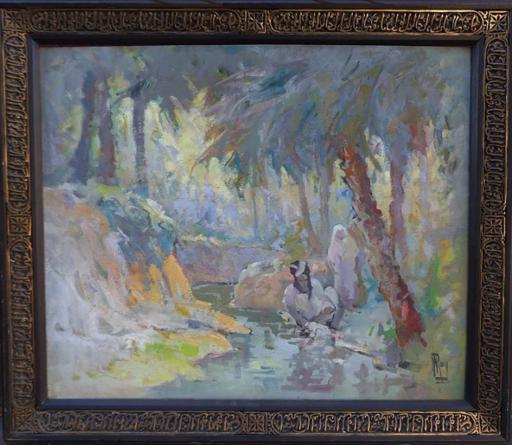 Donatien ROY - Gemälde - Women at the river - Circa 1910