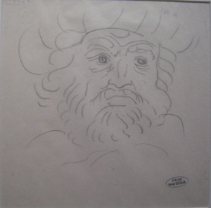 André DERAIN - Dibujo Acuarela - PORTRAIT D HOMME