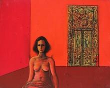 Jean CARZOU - Pintura - LA CHAMBRE ECARLATE