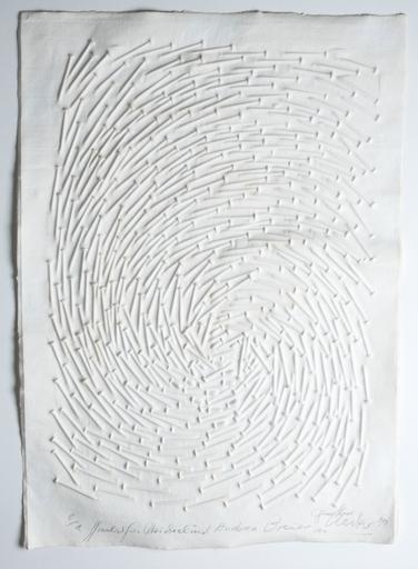 Günther UECKER - Dessin-Aquarelle - Spirale