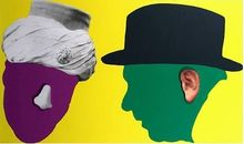 John BALDESSARI - Grabado - Nose and Ear Series (set of 6 Prints)