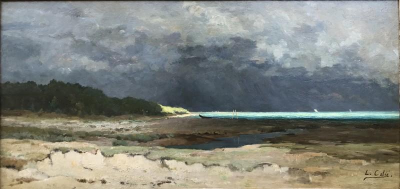 """Louis Alexandre CABIÉ - Painting - """"ORAGE SUR LE BASSIN"""""""