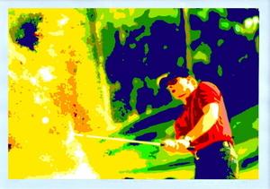 Konrad WINTER - Estampe-Multiple - Golfer