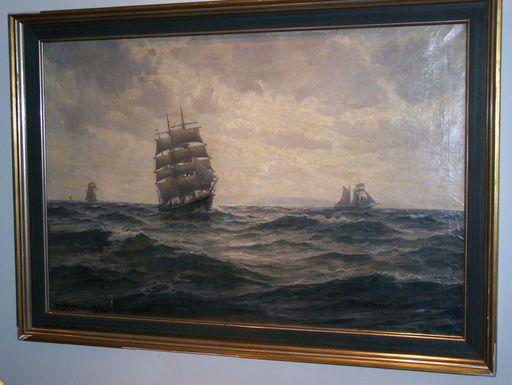 Christian Benjamin OLSEN - Painting - marine