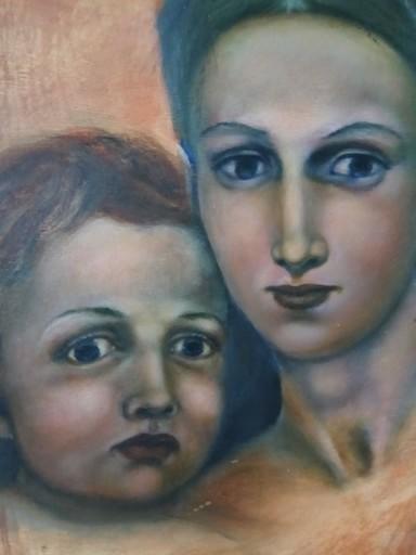 Ellina KATSNELSON - Painting - Madona with child.