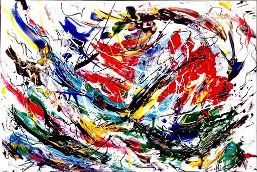 Didier ANGELS - Peinture - éclosion printanière n*03