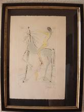 Salvador DALI - Estampe-Multiple - Uomo a cavallo