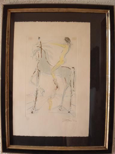 Salvador DALI - Print-Multiple - Uomo a cavallo