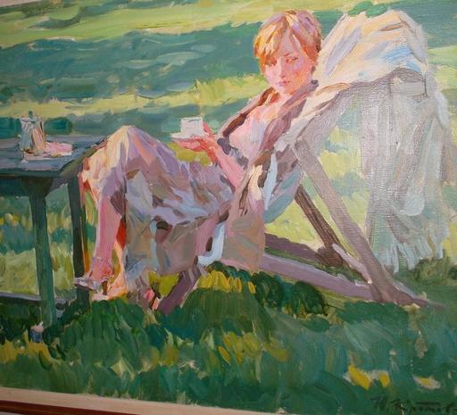 Youri KROTOV - Pintura - Le thé dans le parc