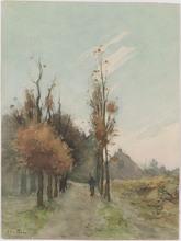 "Hendrik Otto VAN THOL - Dibujo Acuarela - ""Autumn Motif"" by Hendrik Otto van Thol, late 19th Century"