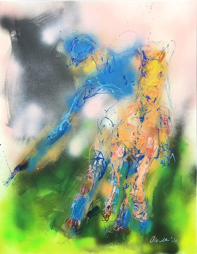 Nicole LEIDENFROST - Gemälde - Alles im Blick