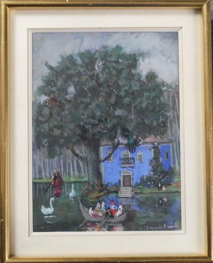 Francis SMITH - Drawing-Watercolor - En barque