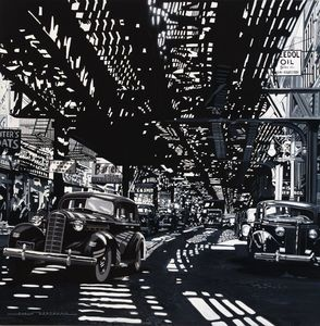 Alain BERTRAND - Painting - Under EL