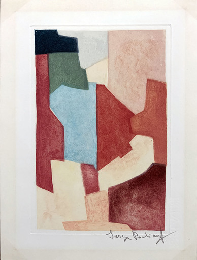 Serge POLIAKOFF - Print-Multiple - Composition Rouge et Verte