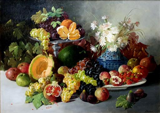 P. MELLINI - Gemälde - Composition with fruit