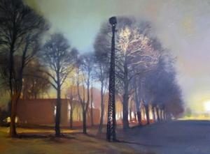 Alise MEDINA - Pintura - Evening in the park