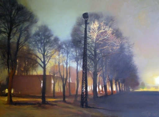 Alise MEDINA - Pintura - Evening in the park