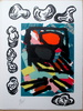 Karel APPEL - Estampe-Multiple - Tantrika I+II, 10 lithographs
