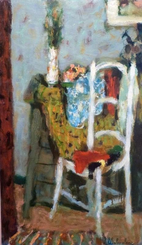 Eugène BABOULENE - Pittura - La chaise blanche