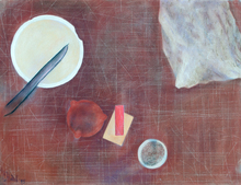Slav NEDEV - Disegno Acquarello - Remains of Still Life