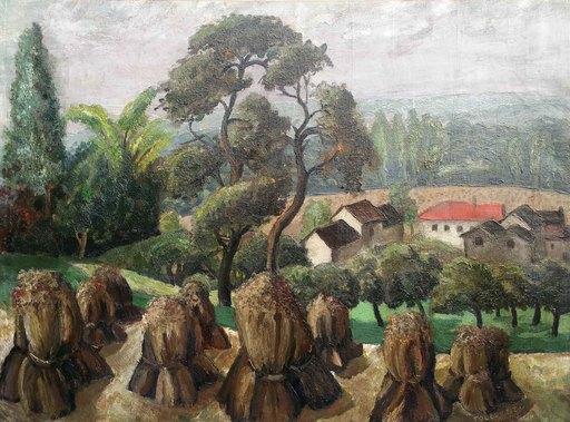 Domingos TOLEDO PIZA - Painting - Paysage de bourgogne