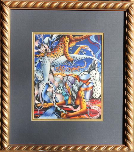 Adrienne SEED - Painting - Sagittairre - signe du Zodiaque