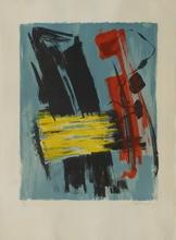 Gérard SCHNEIDER - Grabado - Composition abstraite