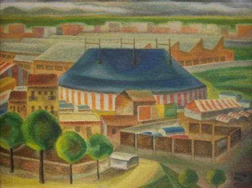 "Nicolás MARTINEZ ORTIZ DE ZARATE - Painting - ""Circo"""