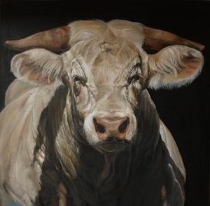 Gilles CAPTON - Painting - Charolaise