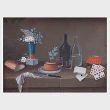 Johann Rudolf FEYERABEND - Dibujo Acuarela - Pair of Still lifes