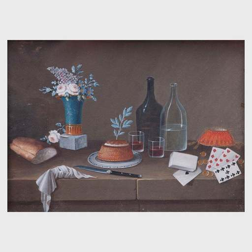 Johann Rudolf FEYERABEND - Drawing-Watercolor - Pair of Still lifes