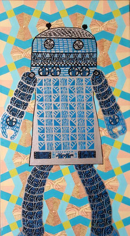 Annemarie HOFFMANN - Painting - BaumRoboter Alexa    (Cat N° 6396)