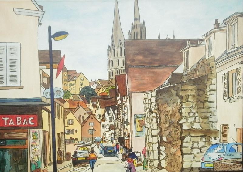 Joël FOUGMAN - Painting - Chartres