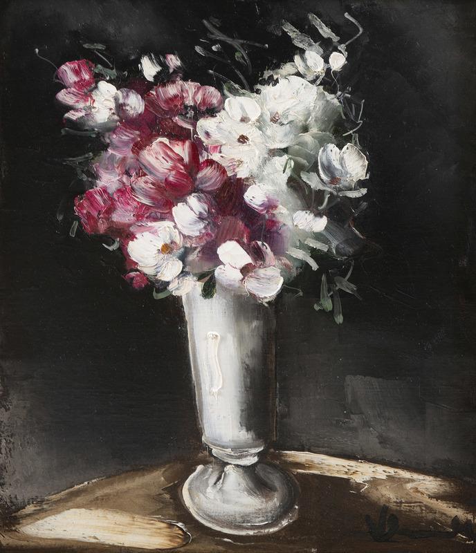 Maurice DE VLAMINCK - Painting - Bouquet de fleurs dans un vase