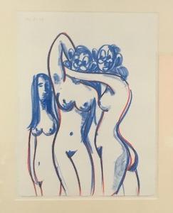 George CONDO - Dessin-Aquarelle - Untitled