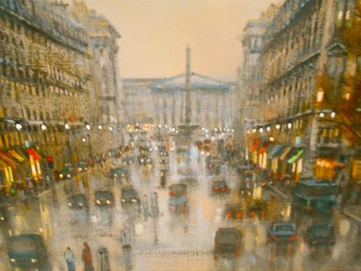 Roger DELAPIERRE - Painting - Vue de la Madeleine, rue Maleslherbe. Paris