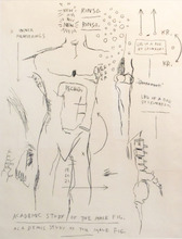 Jean-Michel BASQUIAT (1960-1988) - Academic Study of a Male Figure