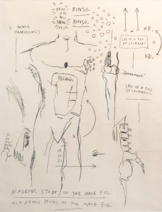 Jean-Michel BASQUIAT, Academic Study of a Male Figure