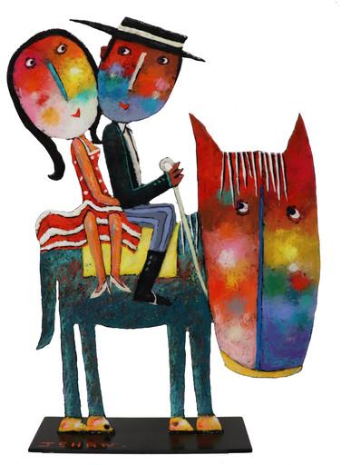 Christophe JEHAN - Escultura - Les cavaliers amoureux