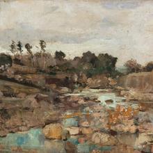 Théo VAN RYSSELBERGHE - Painting - El Uad-Lihud à Tanger (la rivière des juifs)