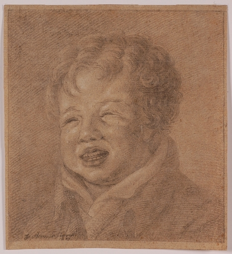 "Johann BERNARD - Disegno Acquarello - ""Crying Boy"" by Johann Bernard"