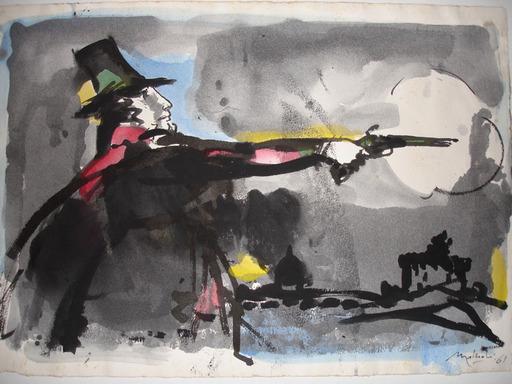 Carlo MATTIOLI - Painting - Personaggio stendhaliano