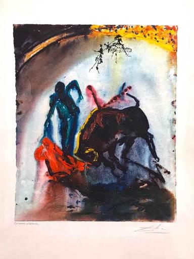 萨尔瓦多·达利 - 版画 - Stierkampf - Tauromachie V