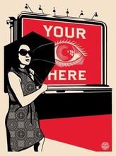 "Shepard FAIREY - Grabado - ""Billboard Eye"""