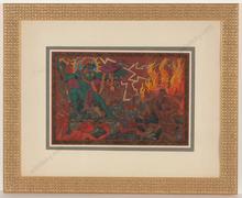 "Alfred WAAGNER - Dibujo Acuarela - ""Die Unterwelt ""Am Styx"""", watercolor, 1910s"