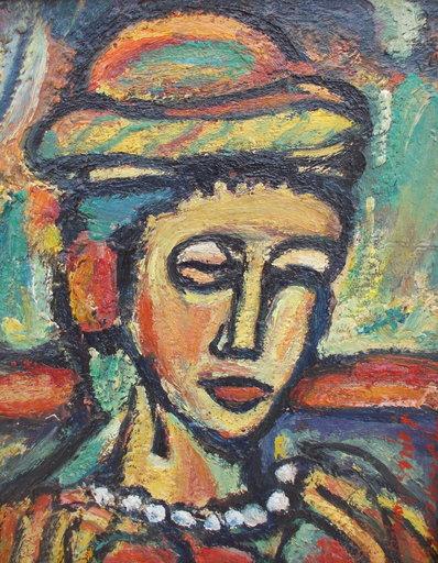 Charly DEVARENNES - Painting - Hommage à Rouault