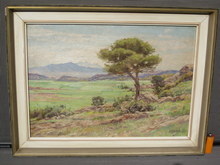 Nikos XENOS - Painting - Summer landscape