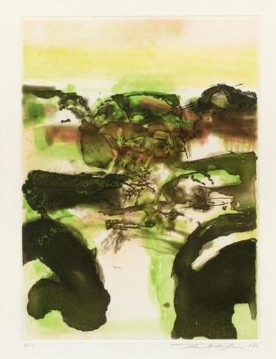 ZAO Wou-Ki - Print-Multiple - Beauregard series, 1980 - Composition en vert et noir