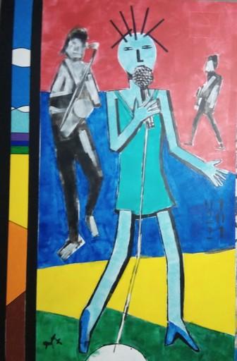 Harry BARTLETT FENNEY - Painting - glimpse # 7 (2021) : portrait vocalist