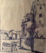 Francis PICABIA - Drawing-Watercolor - vue de Martigues